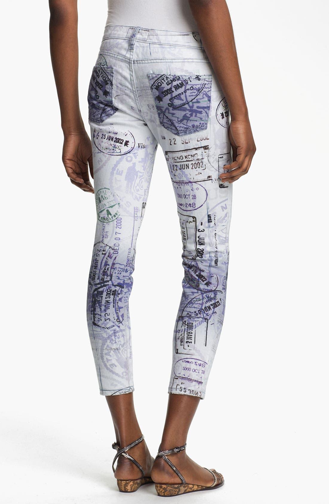 Alternate Image 2  - Mary Katrantzou Current/Elliott 'The Printed Stiletto' Jeans