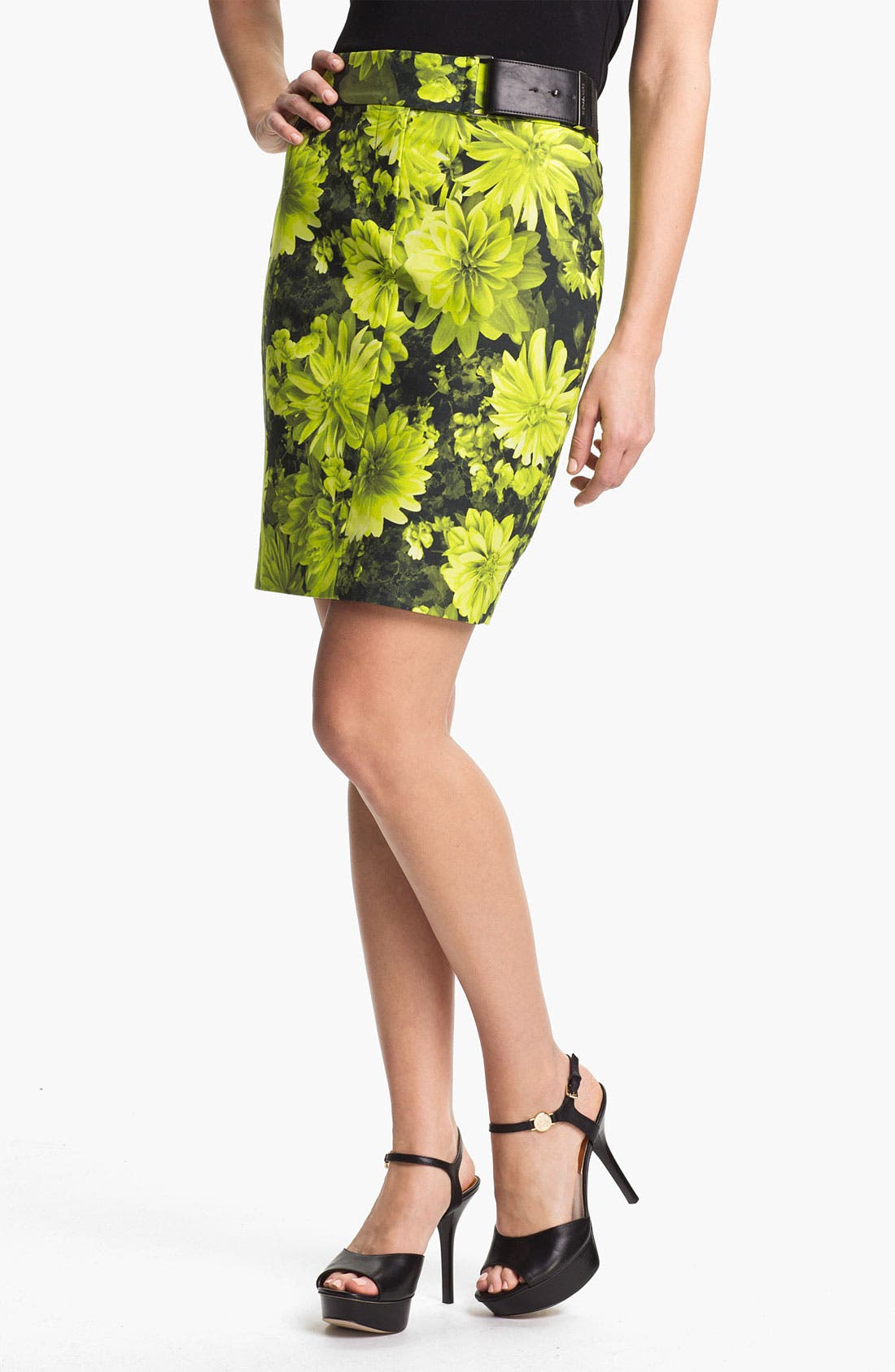 Main Image - MICHAEL Michael Kors Floral Pencil Skirt