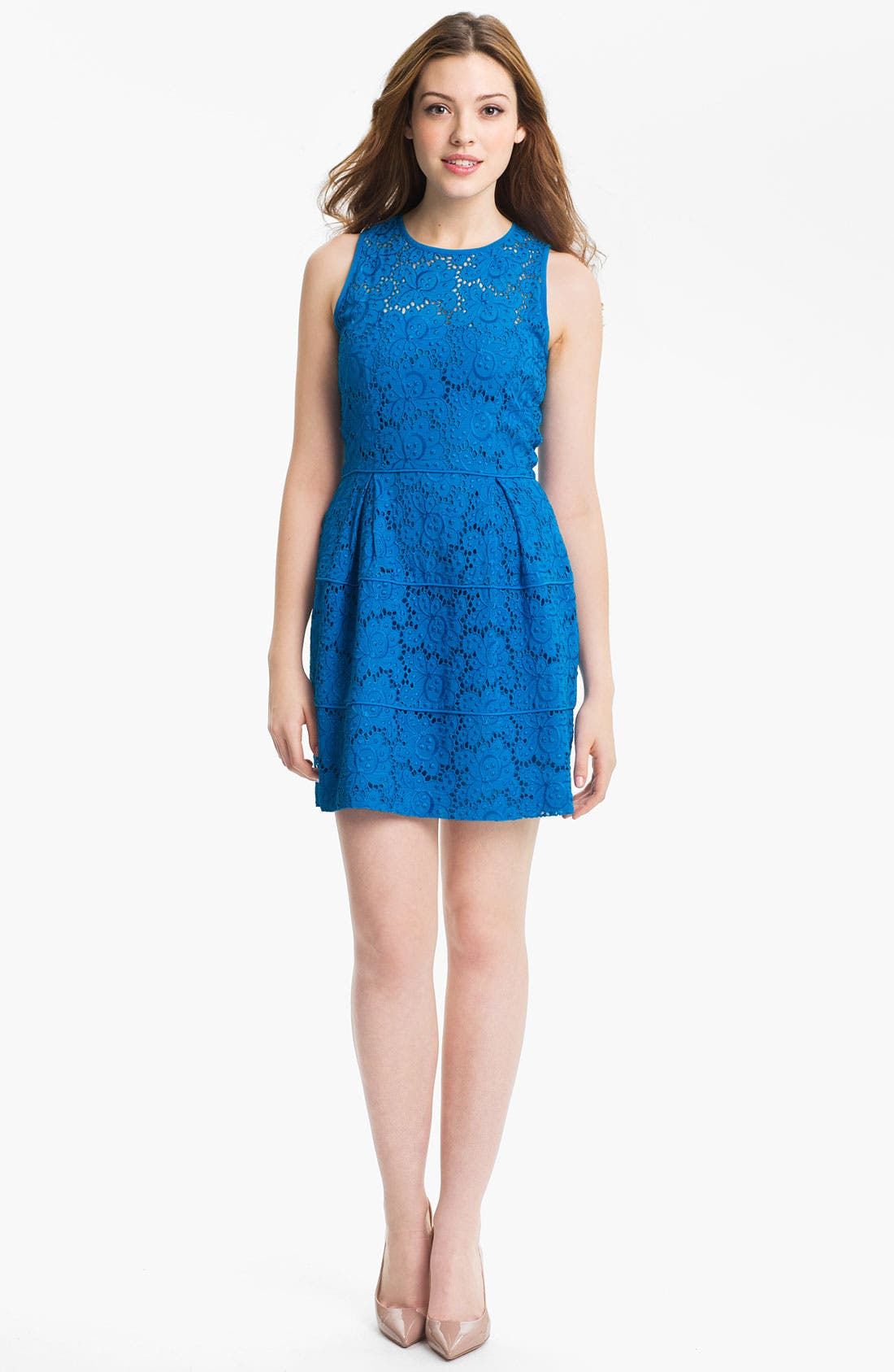 Alternate Image 1 Selected - Nanette Lepore 'Treasure' Lace Fit & Flare Dress