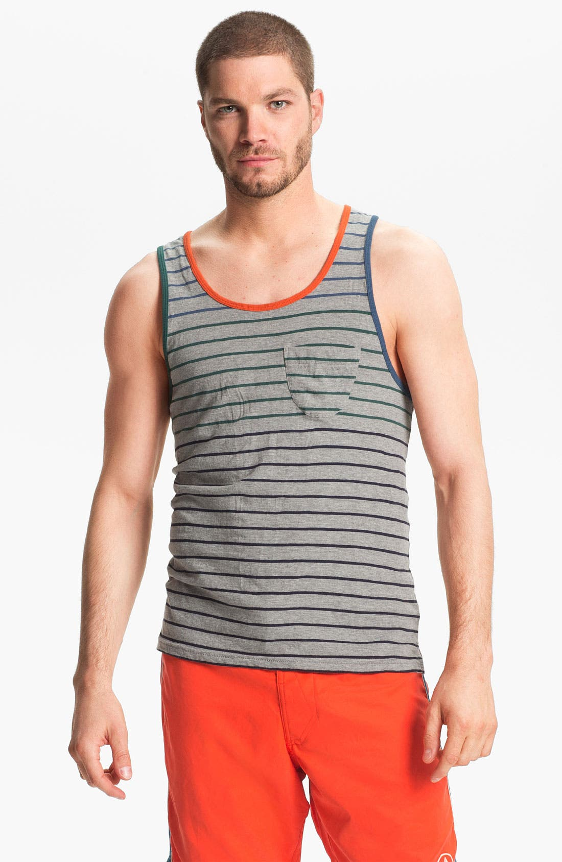 Alternate Image 1 Selected - Burkman Bros Stripe Tank Top