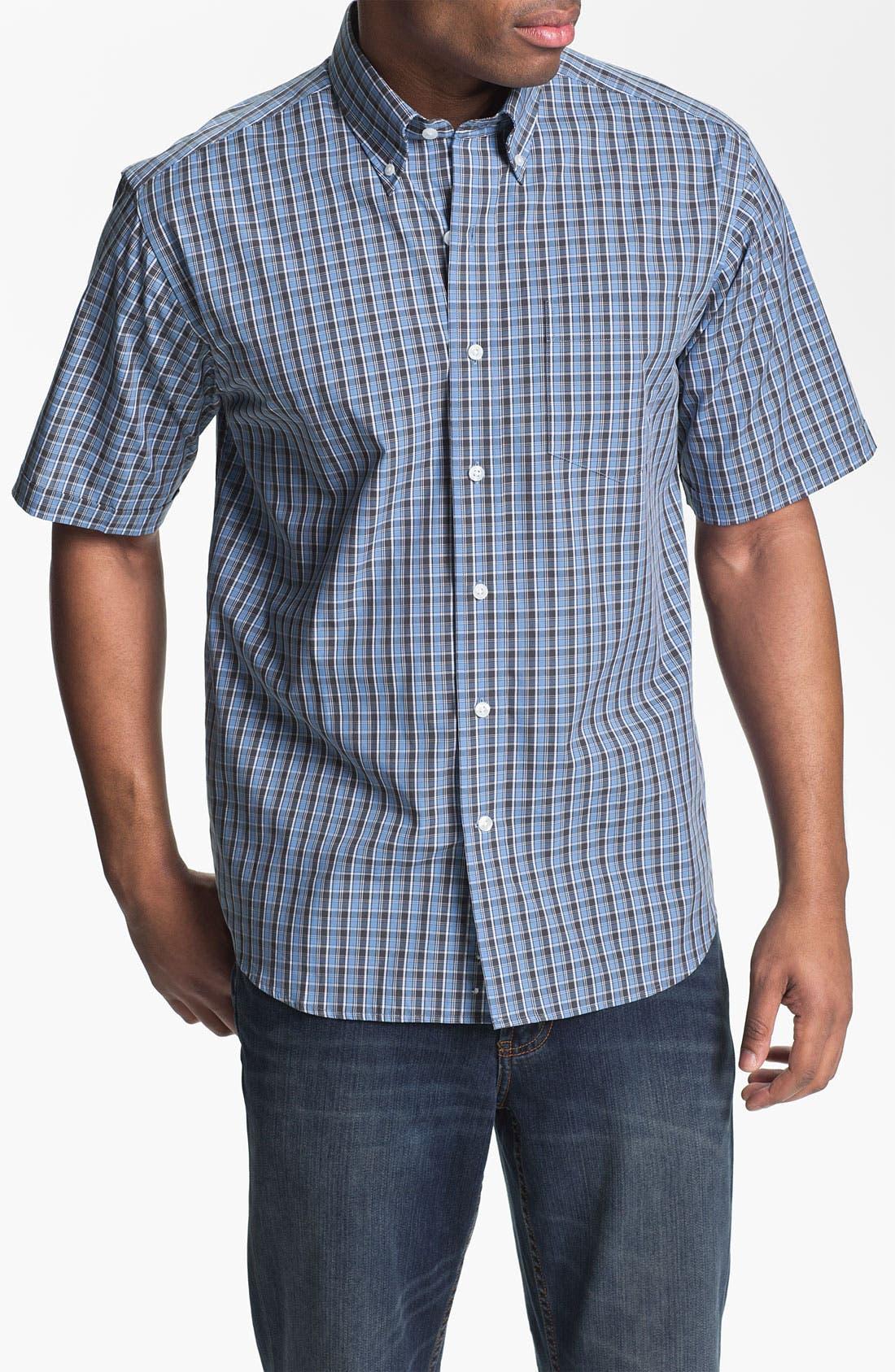 Main Image - Cutter & Buck 'Midvale' Check Sport Shirt (Big & Tall)