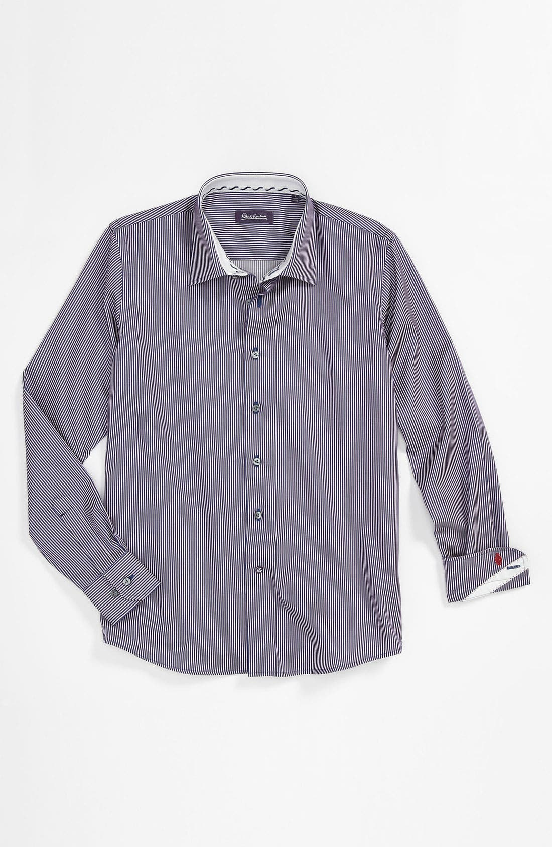Alternate Image 1 Selected - Robert Graham 'Brad' Dress Shirt (Big Boys)