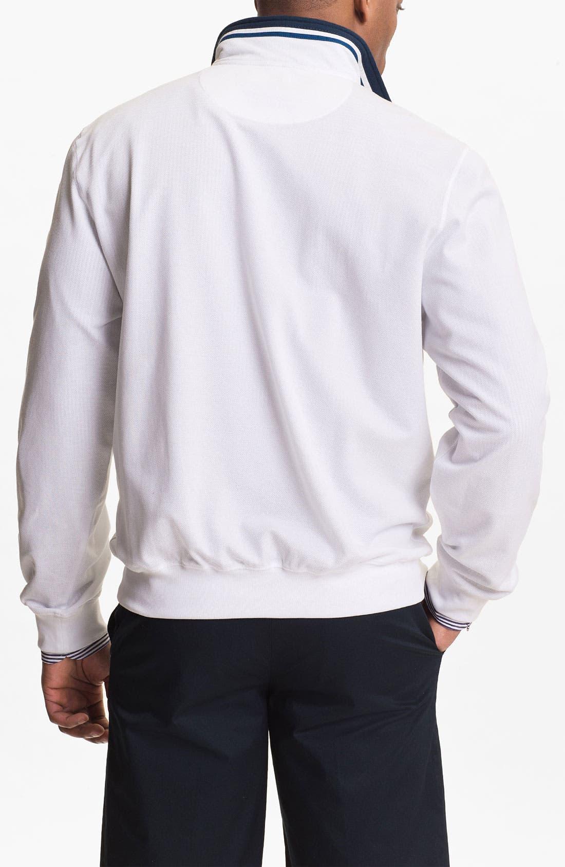 Alternate Image 2  - Paul & Shark Quarter Zip Pique Sweater