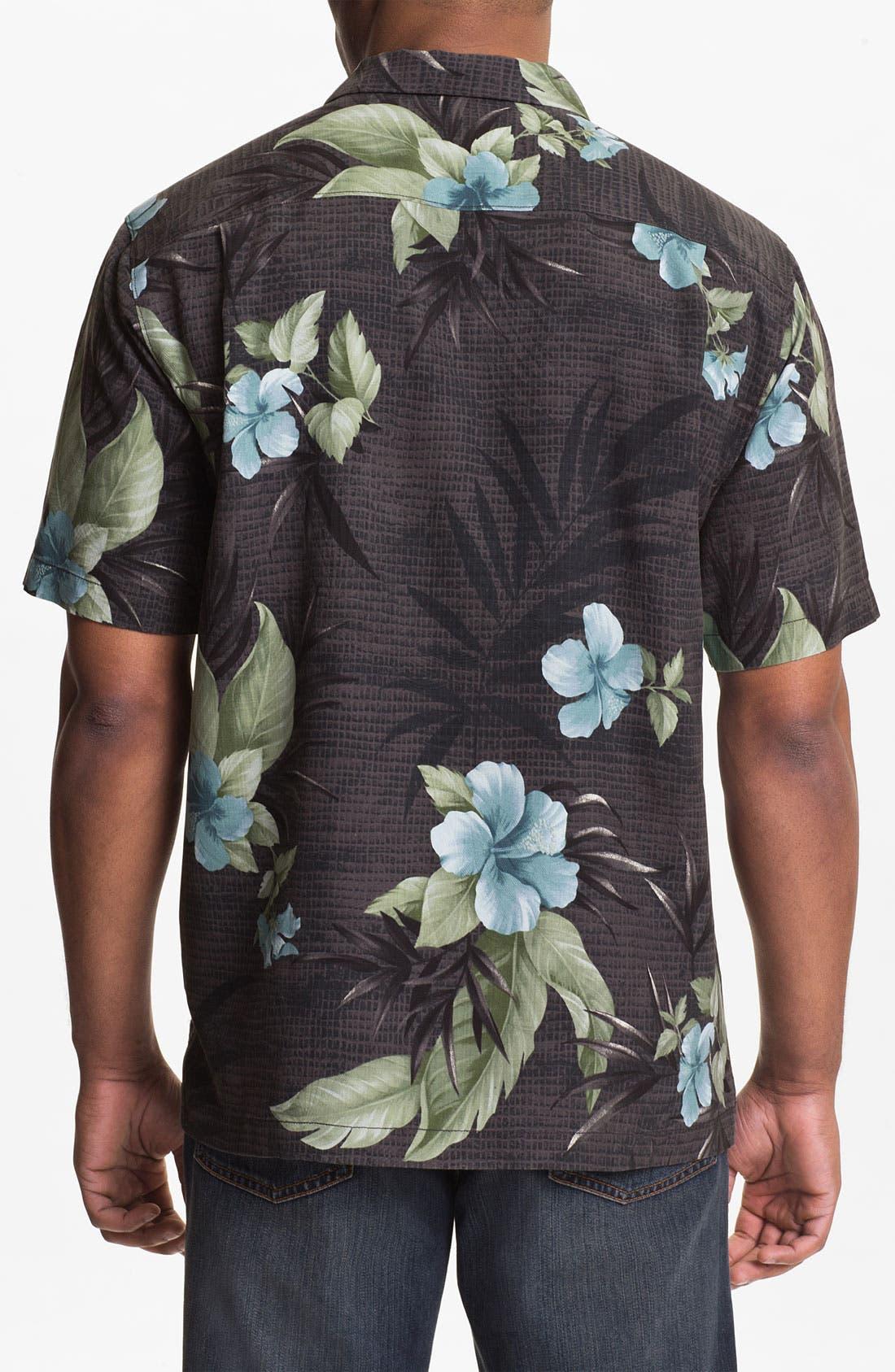 Alternate Image 2  - Tommy Bahama 'Tropical Mosaic' Silk Campshirt (Big & Tall)