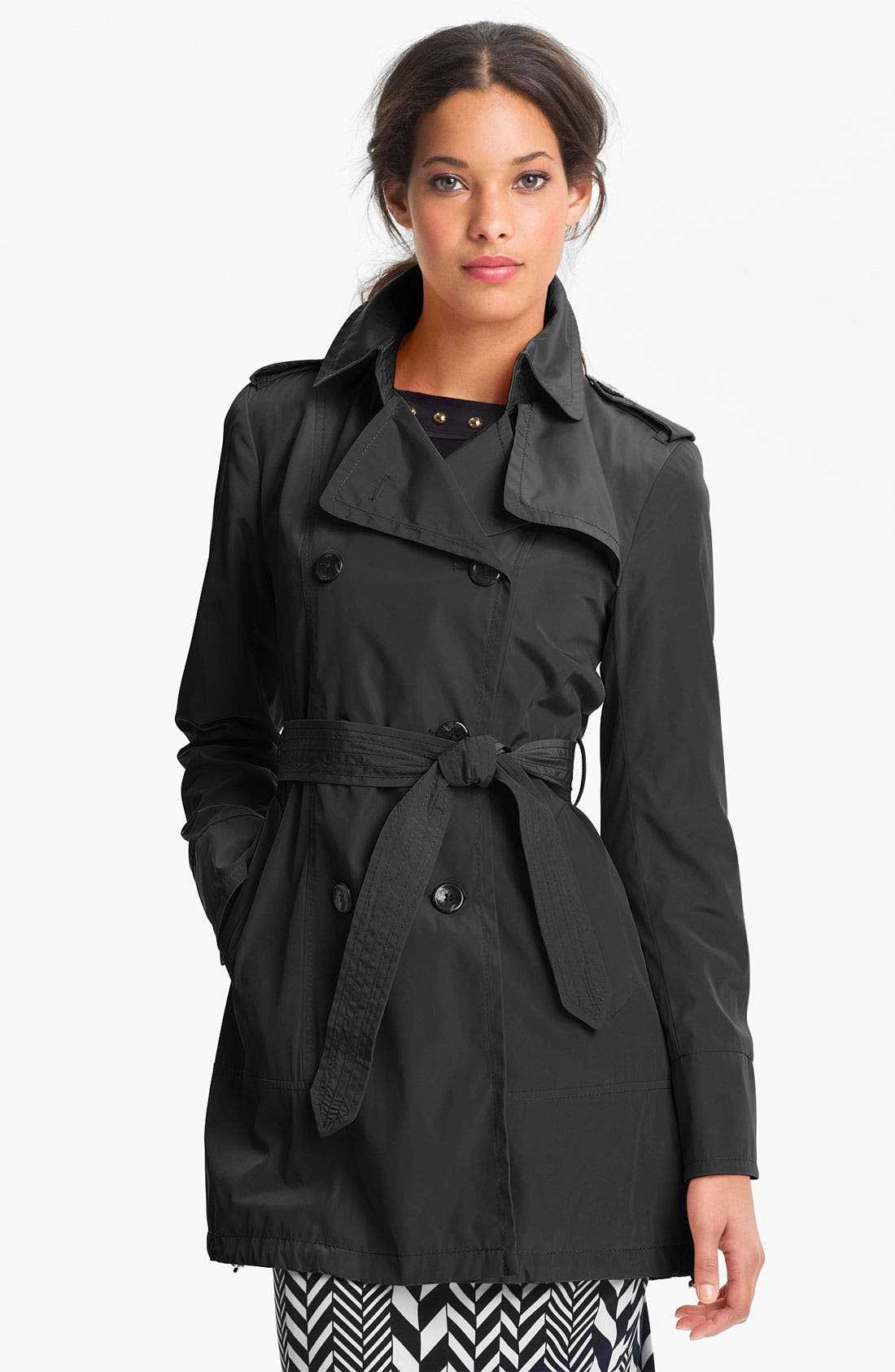Alternate Image 1 Selected - Vince Camuto 'Heidi' Double Breasted Trench Coat