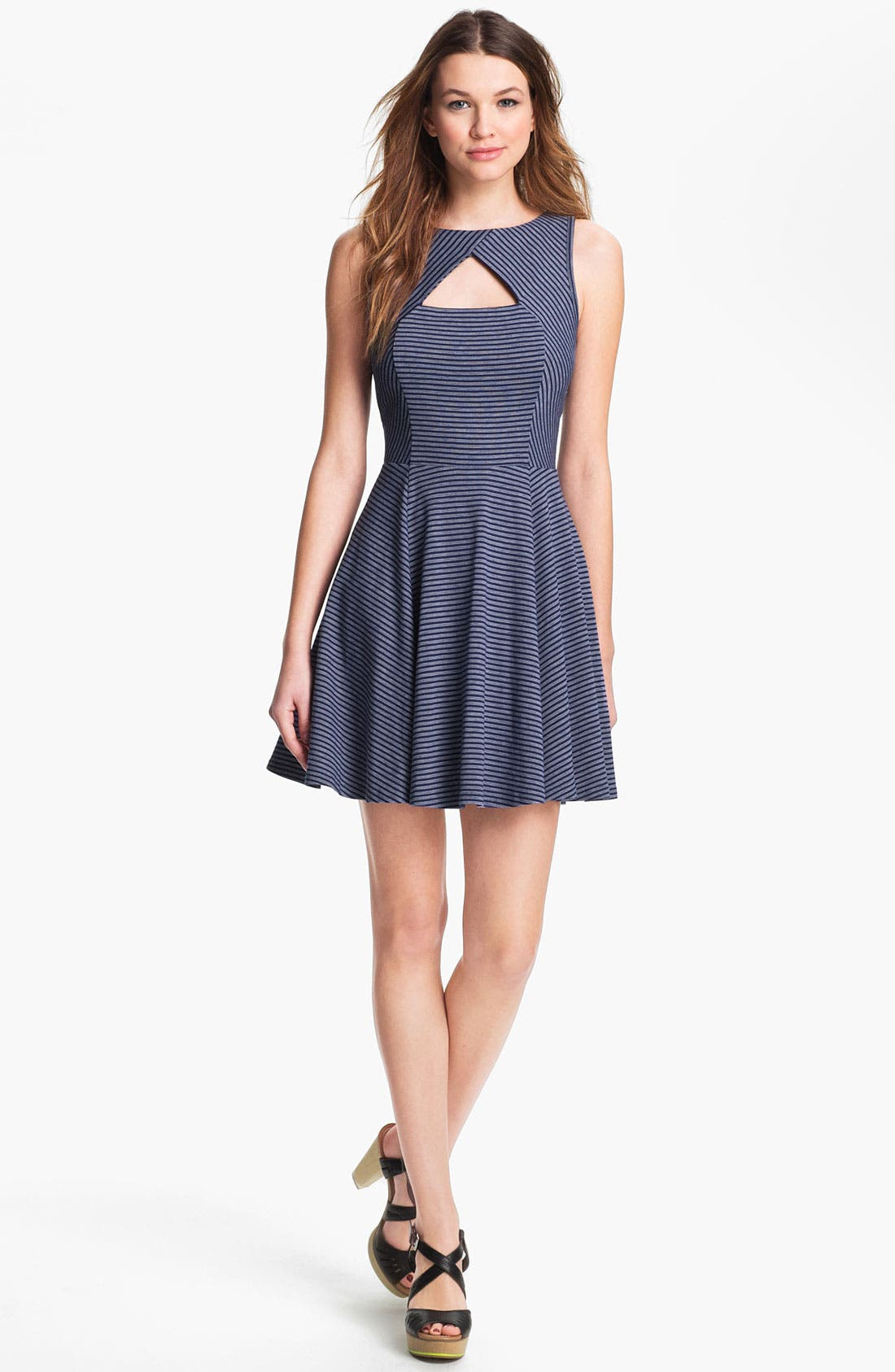 Alternate Image 1 Selected - BB Dakota 'Dielia' Stripe Fit & Flare Dress