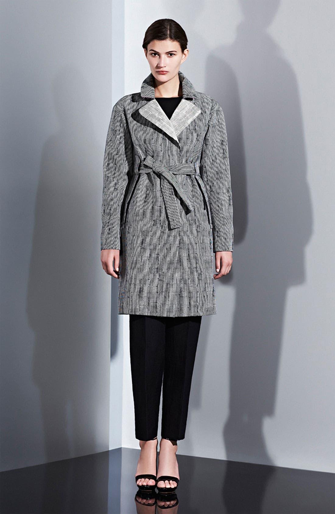 Alternate Image 4  - Lida Baday Stripe Jacquard Trench Coat