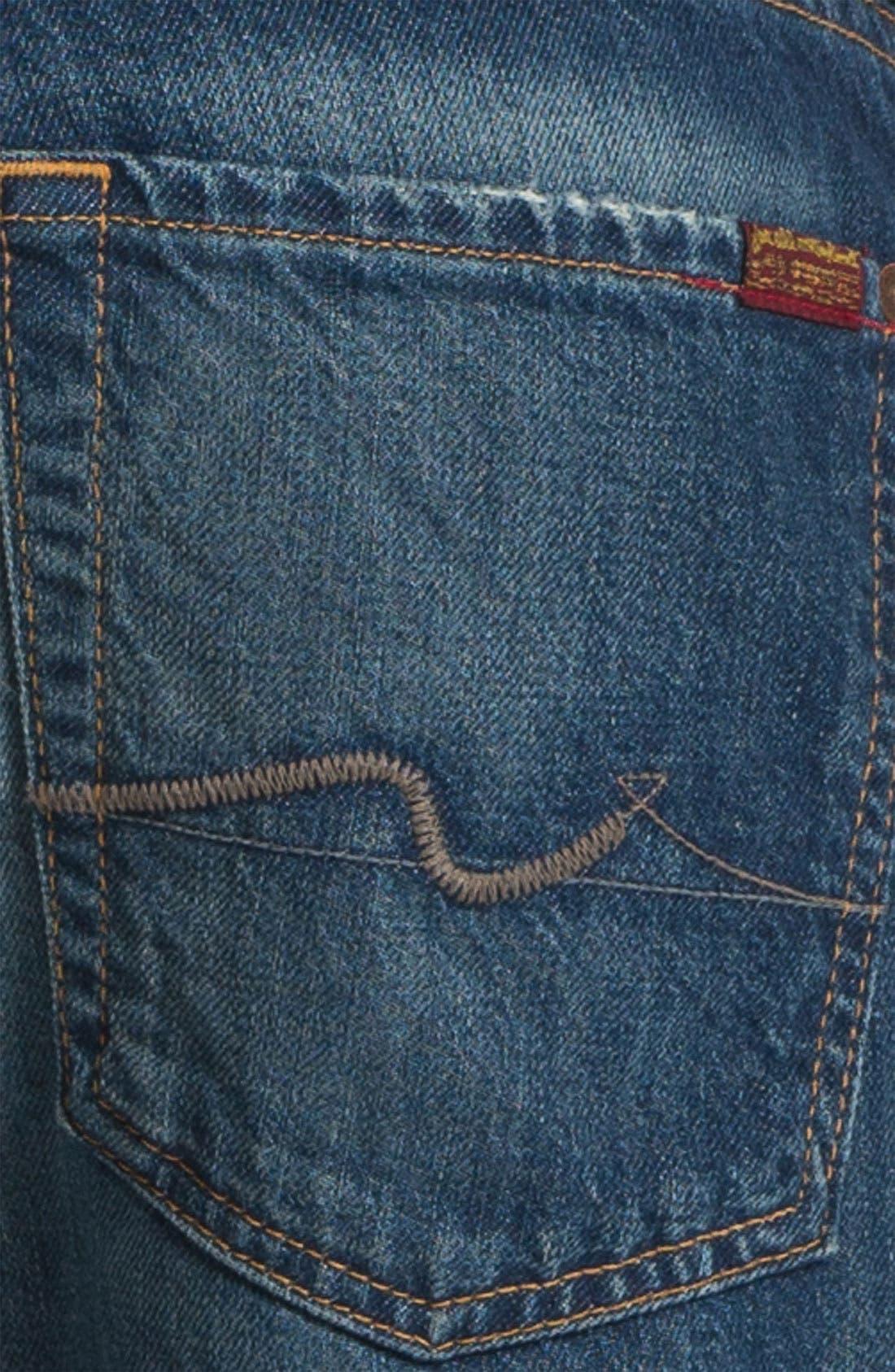 Alternate Image 4  - 7 For All Mankind® 'Carsen' Straight Leg Jeans (Juniper Bay)