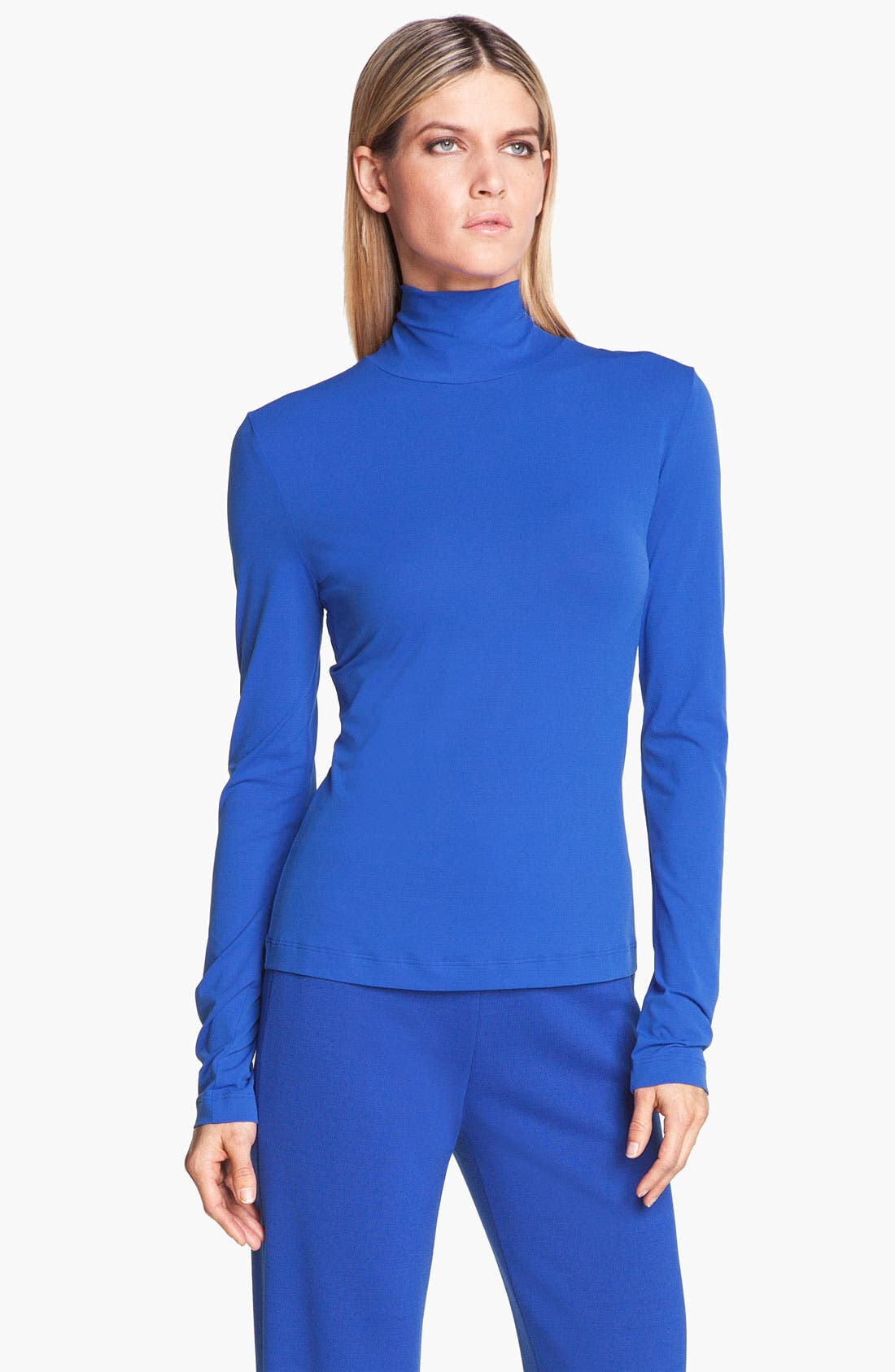 Main Image - St. John Collection Fine Jersey Turtleneck