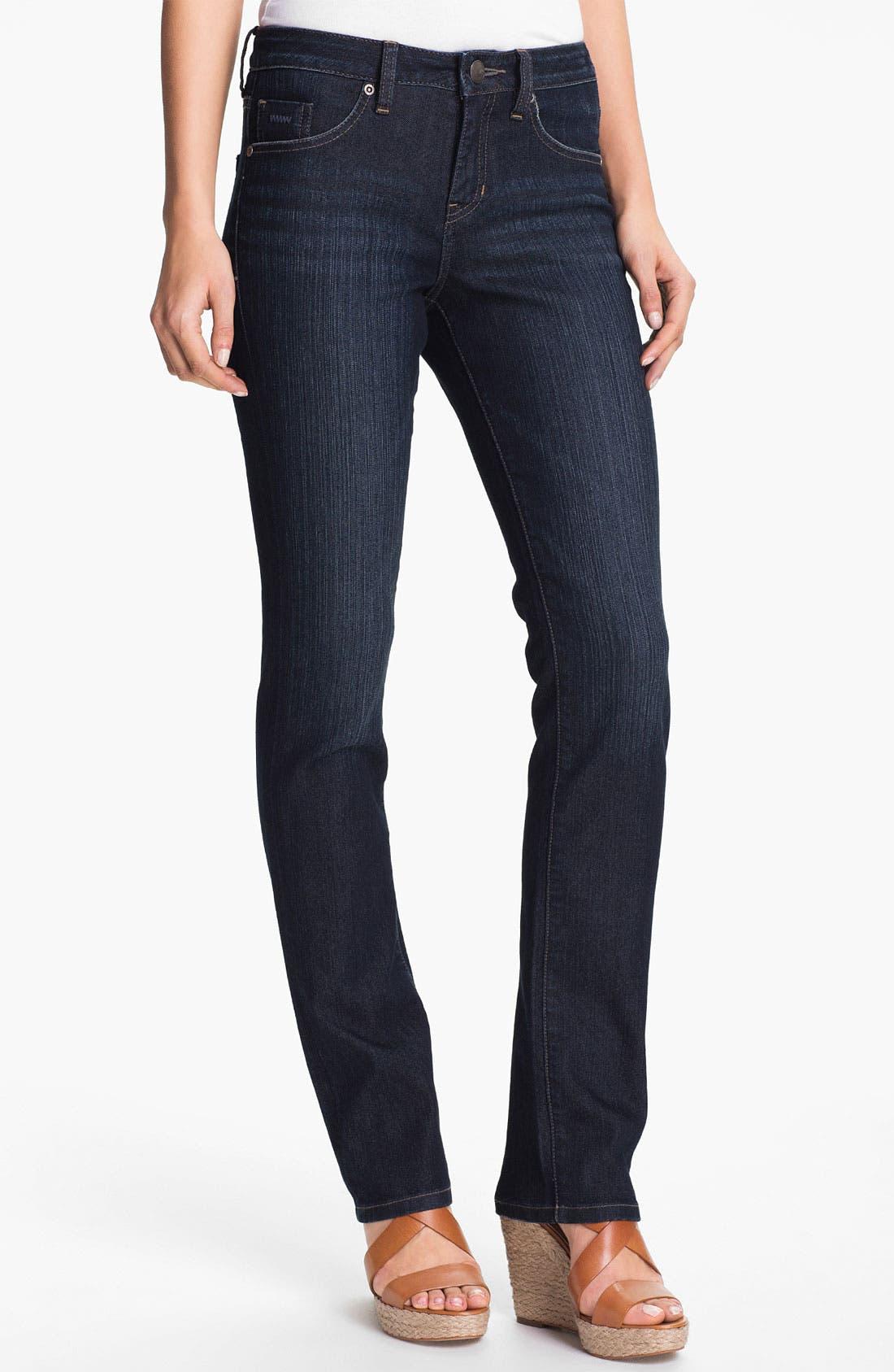 Alternate Image 1 Selected - Jag Jeans 'Jackson' Straight Leg Slub Denim Jeans