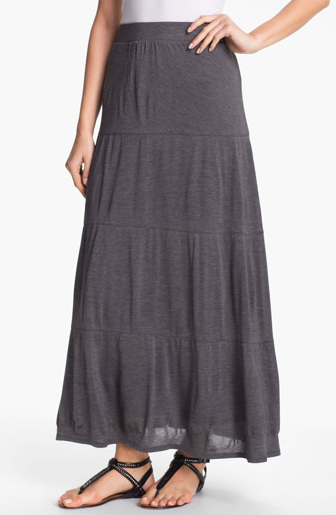 Alternate Image 1 Selected - Eileen Fisher Tiered Maxi Skirt (Online Only)