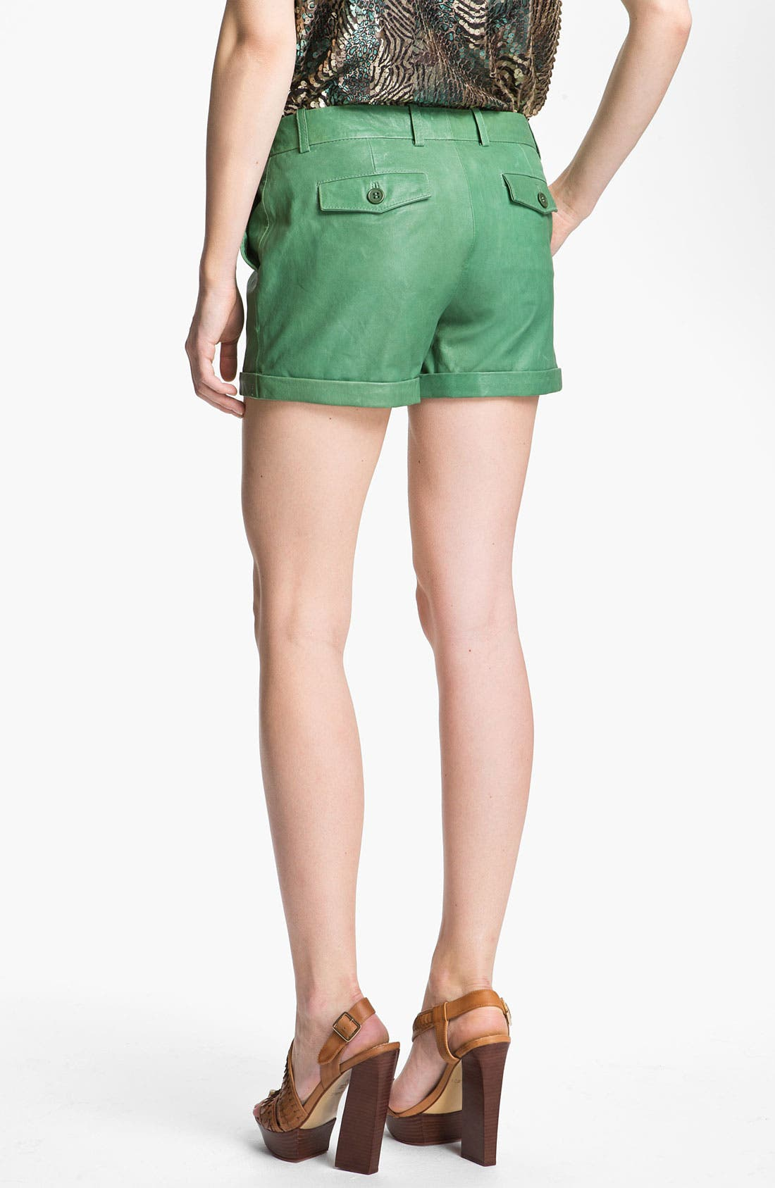 Alternate Image 2  - Rachel Zoe 'Justin' Leather Shorts