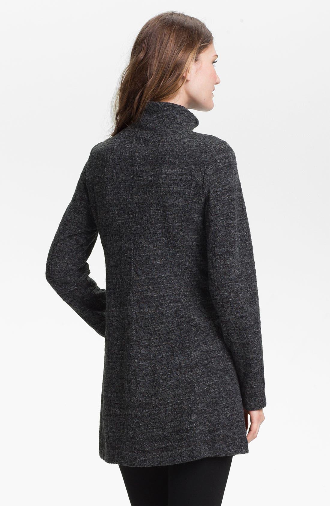 Alternate Image 2  - Eileen Fisher Funnel Neck Zip Jacket (Petite)