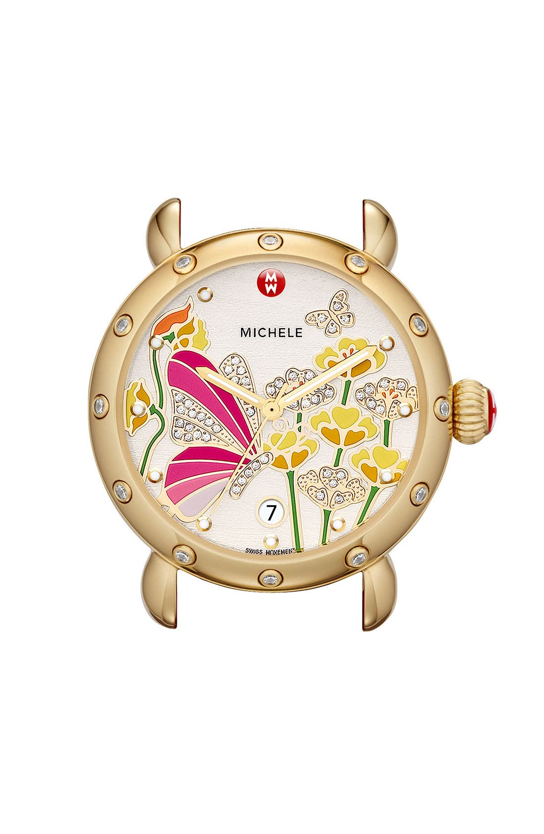 Alternate Image 1 Selected - MICHELE 'Garden Party - Butterfly' Diamond Watch Case