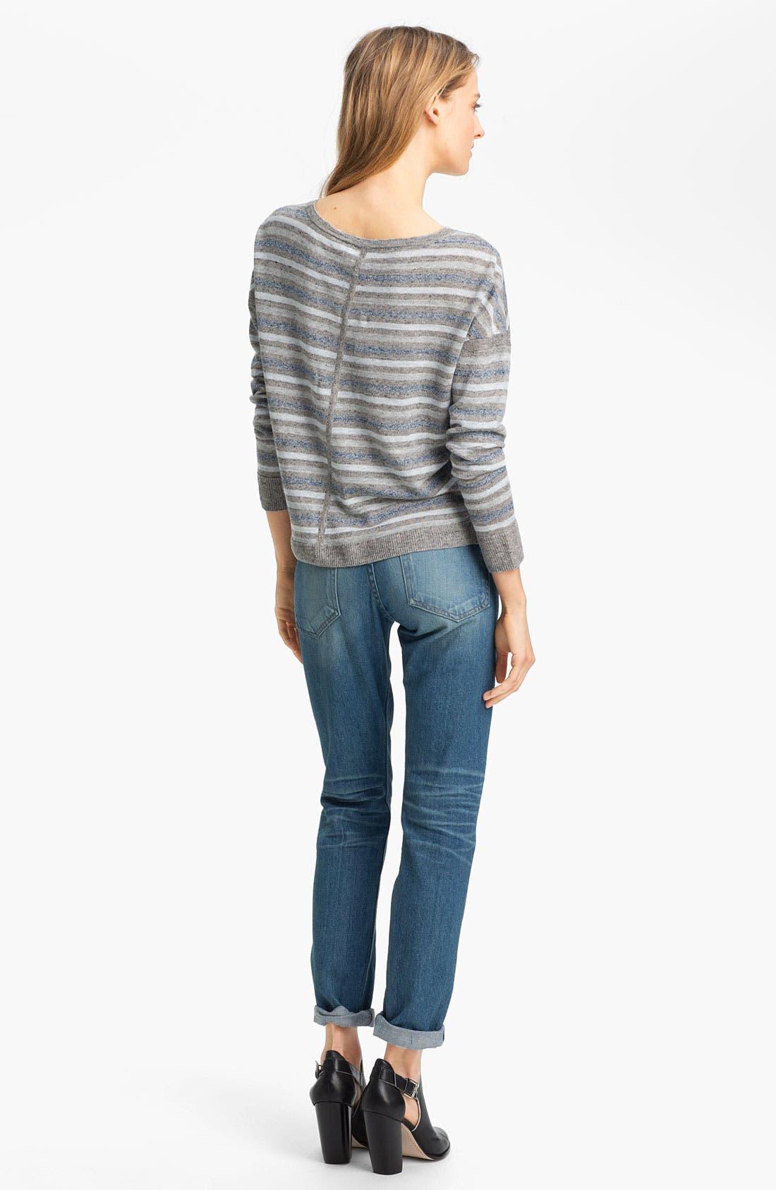 Alternate Image 4  - rag & bone 'Sierra' Linen Pullover
