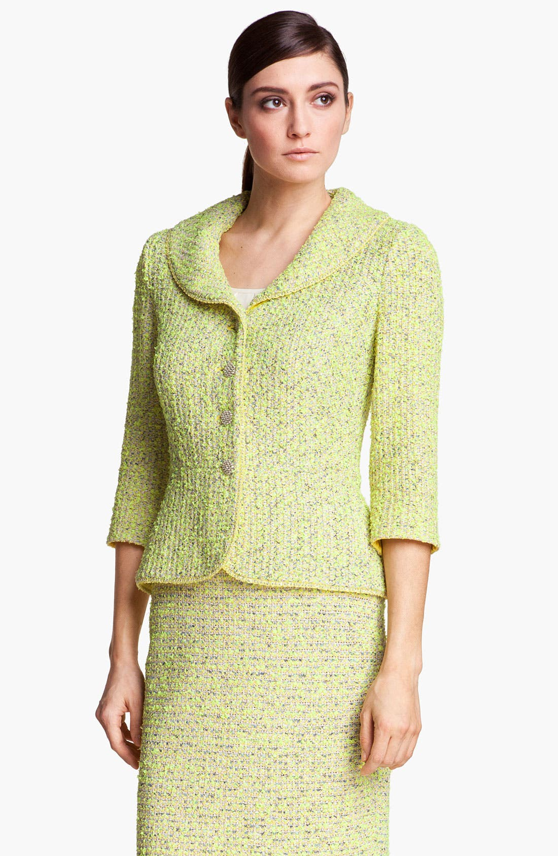 Main Image - St. John Collection 'Park Lane' Tweed Jacket