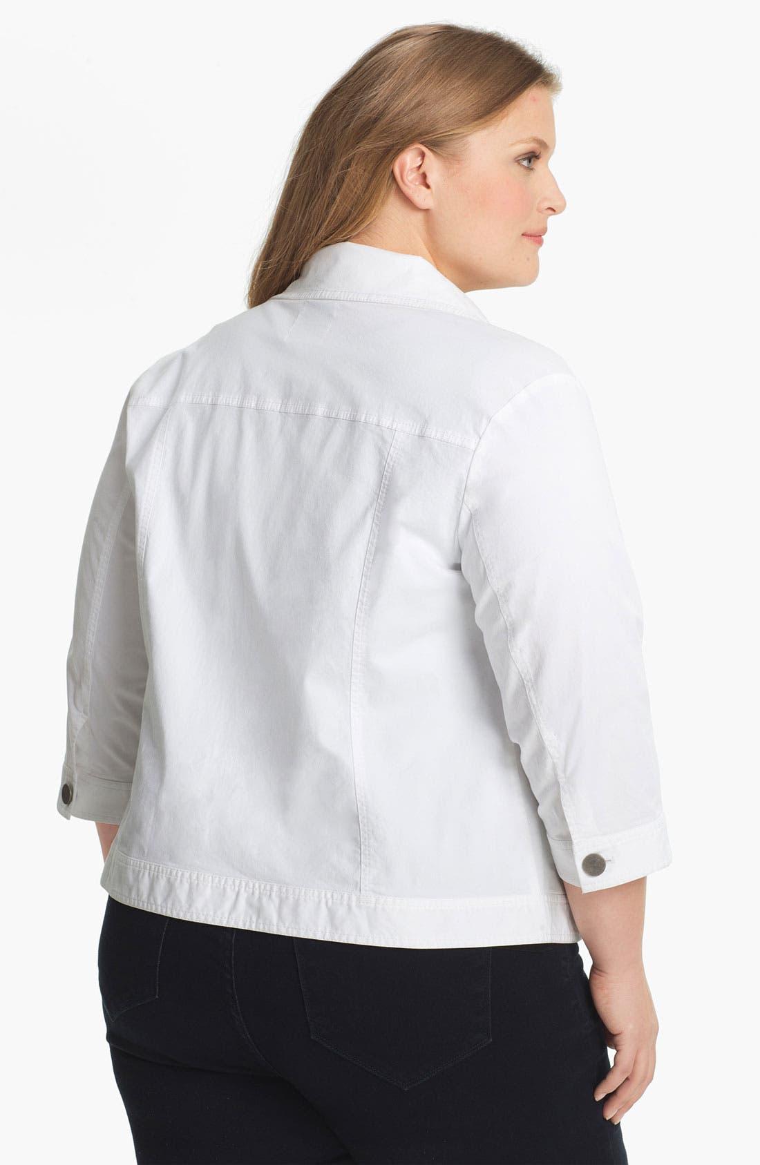 Alternate Image 2  - Sejour 'Megan' Patch Pocket Jacket (Plus Size)