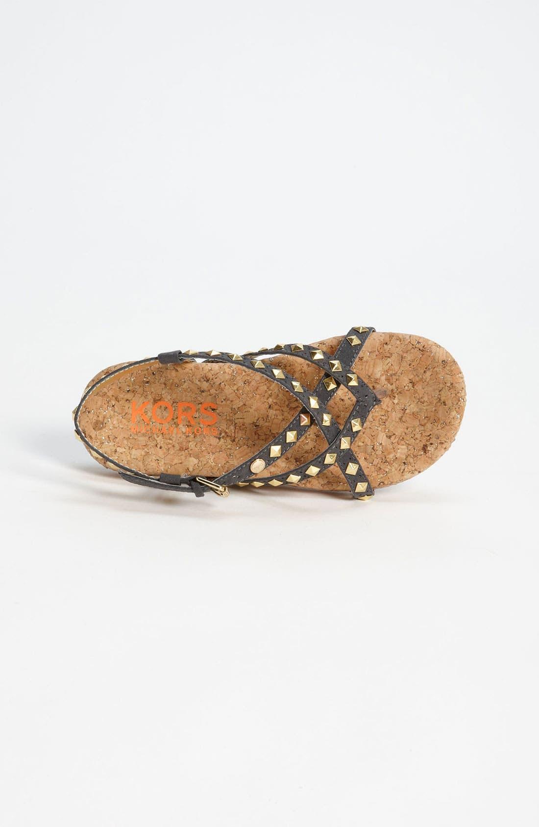 Alternate Image 3  - KORS Michael Kors 'Carnation' Sandal (Little Kid & Big Kid)