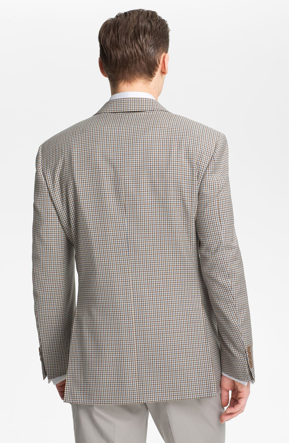 Alternate Image 3  - Canali Check Wool Sportcoat