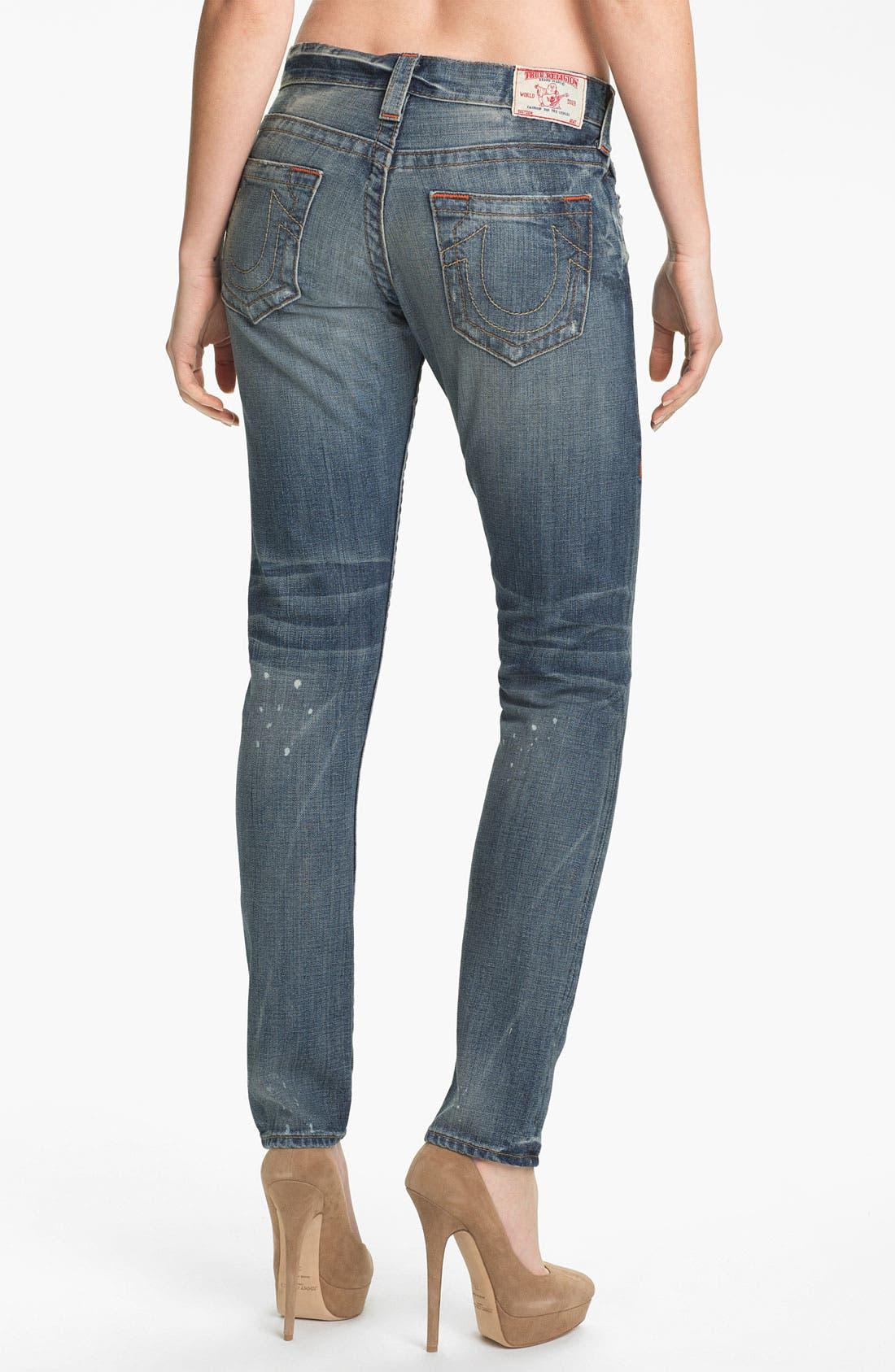 Alternate Image 2  - True Religion Brand Jeans 'Brianna' Boyfriend Jeans (Black Water)