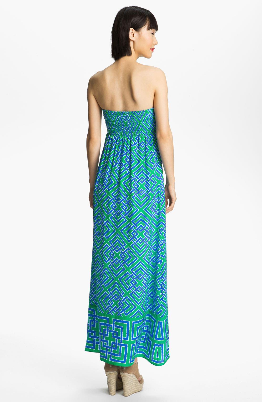 Alternate Image 2  - ALICE & TRIXIE 'Tianna' Print Silk Maxi Dress