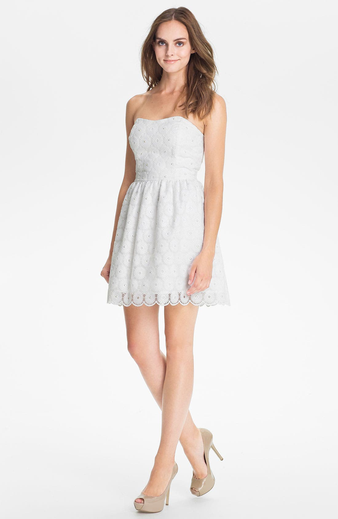 Main Image - Lilly Pulitzer® 'Payton' Pearl Embellished Lace Fit & Flare Dress