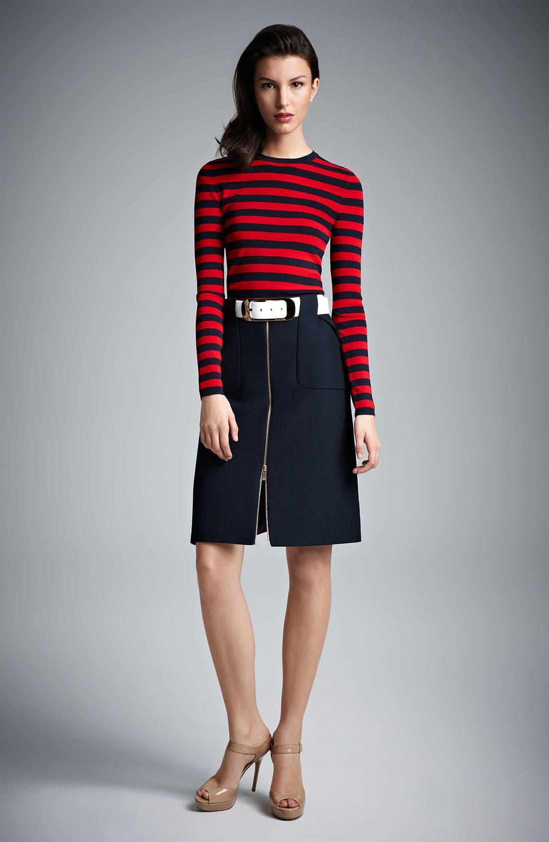 Alternate Image 5  - Michael Kors Stripe Matte Jersey Top