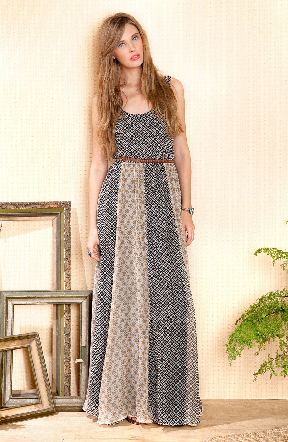 Alternate Image 4  - Ella Moss 'Sun Tile' Print Maxi Dress