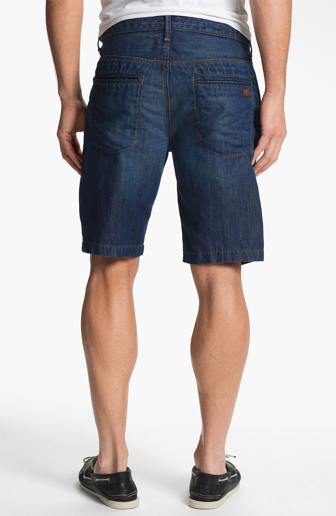 Alternate Image 2  - 7 For All Mankind® Cotton & Linen Denim Shorts