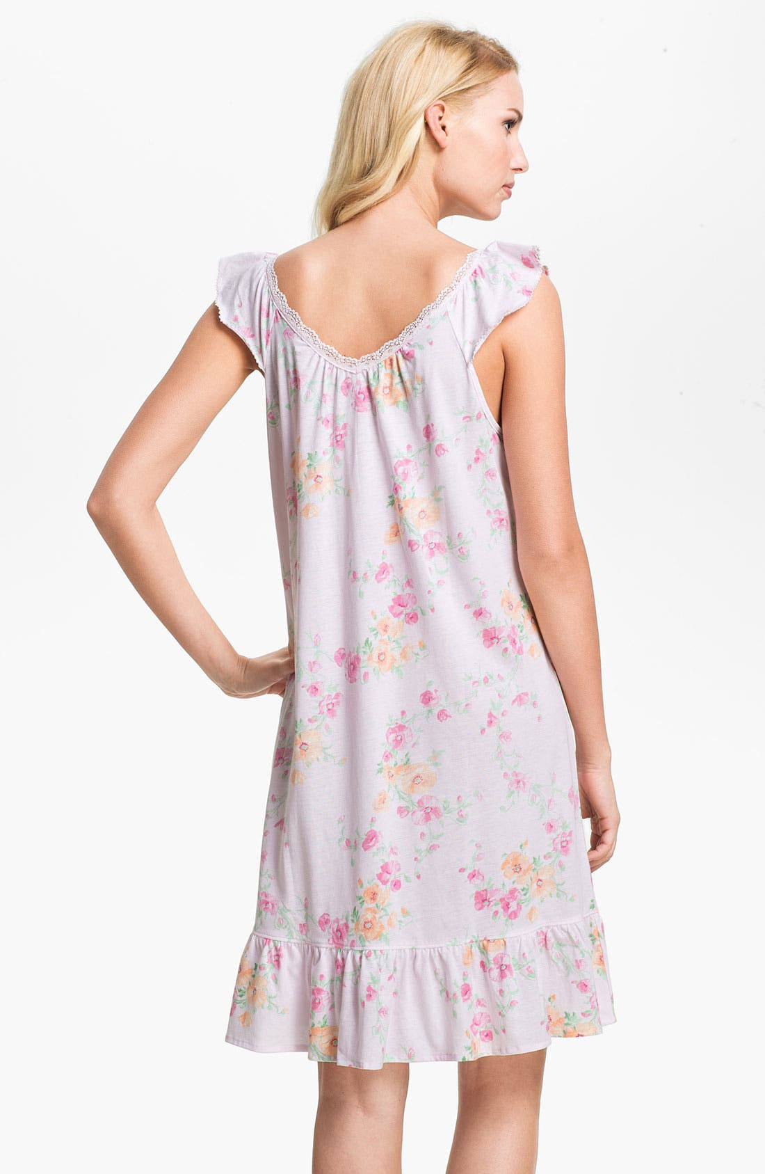 Alternate Image 2  - Lauren Ralph Lauren Ruffled Short Nightgown