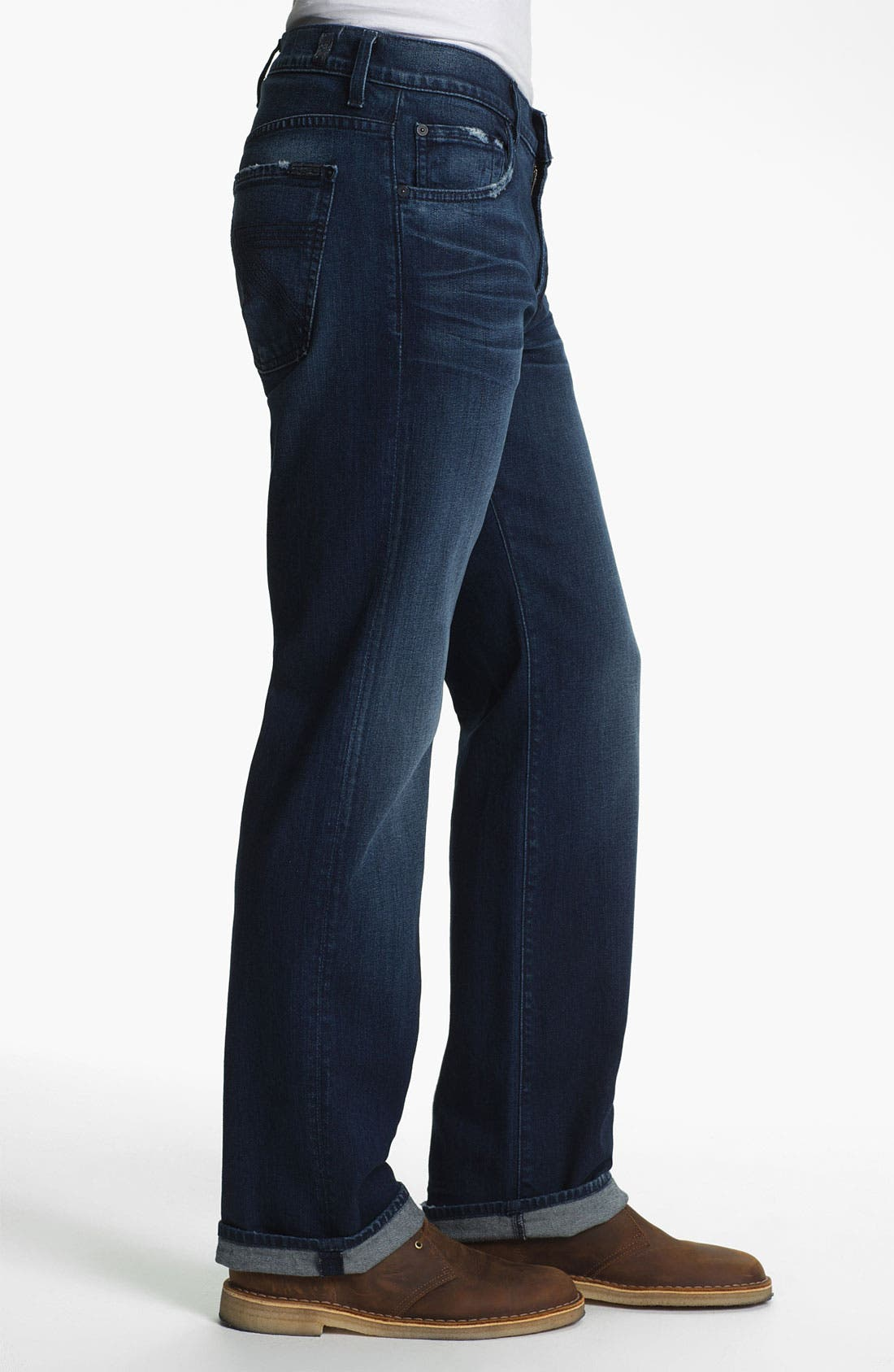 Alternate Image 3  - 7 For All Mankind® 'Austyn' Relaxed Straight Leg Jeans (Authentic Indigo)