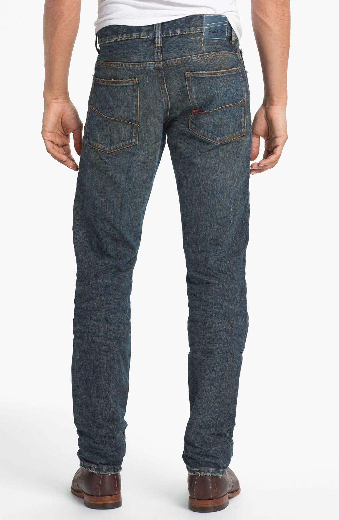 Main Image - Gilded Age 'Baxten' Slim Straight Leg Jeans (Super Vintage)