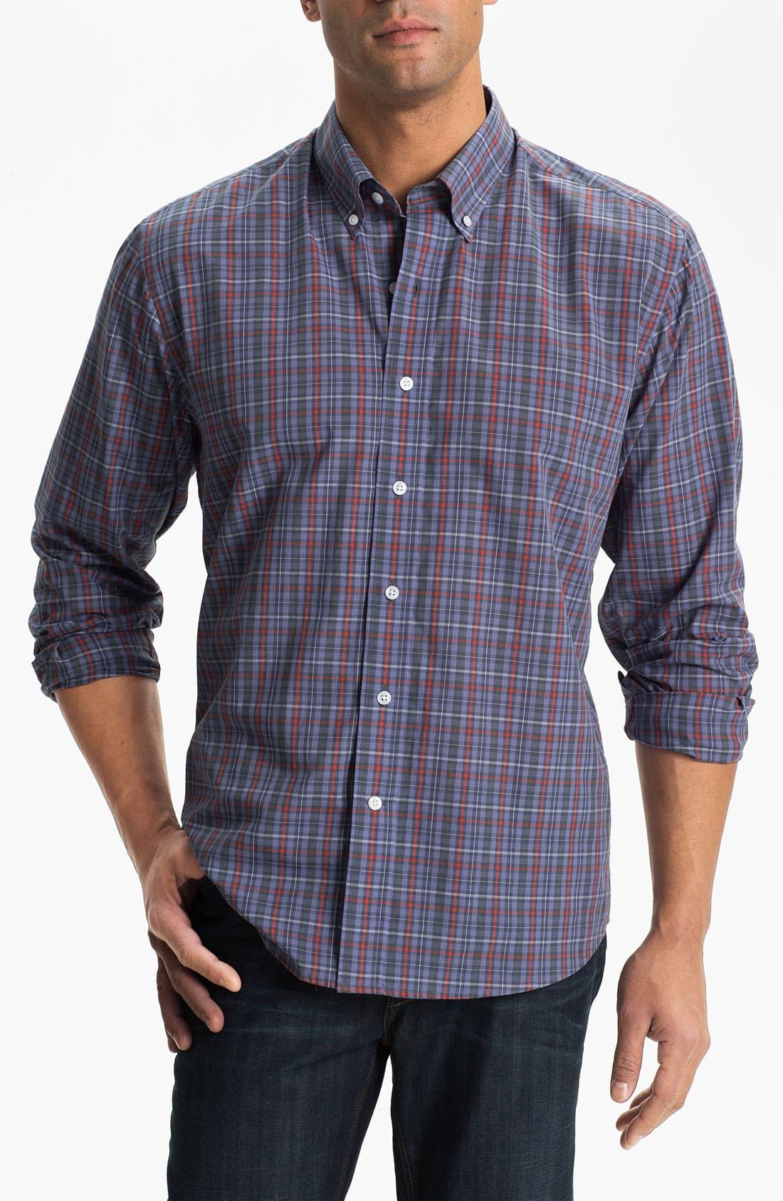 Main Image - Cutter & Buck 'Kent Plaid' Regular Fit Sport Shirt (Big & Tall)