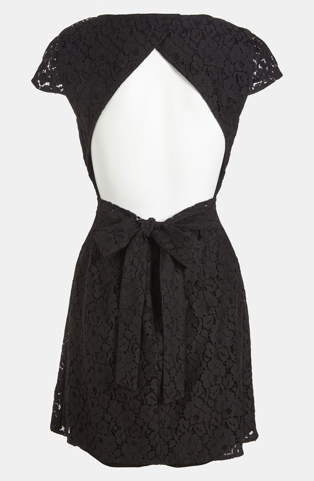 Alternate Image 3  - RBL Open Back Lace Dress