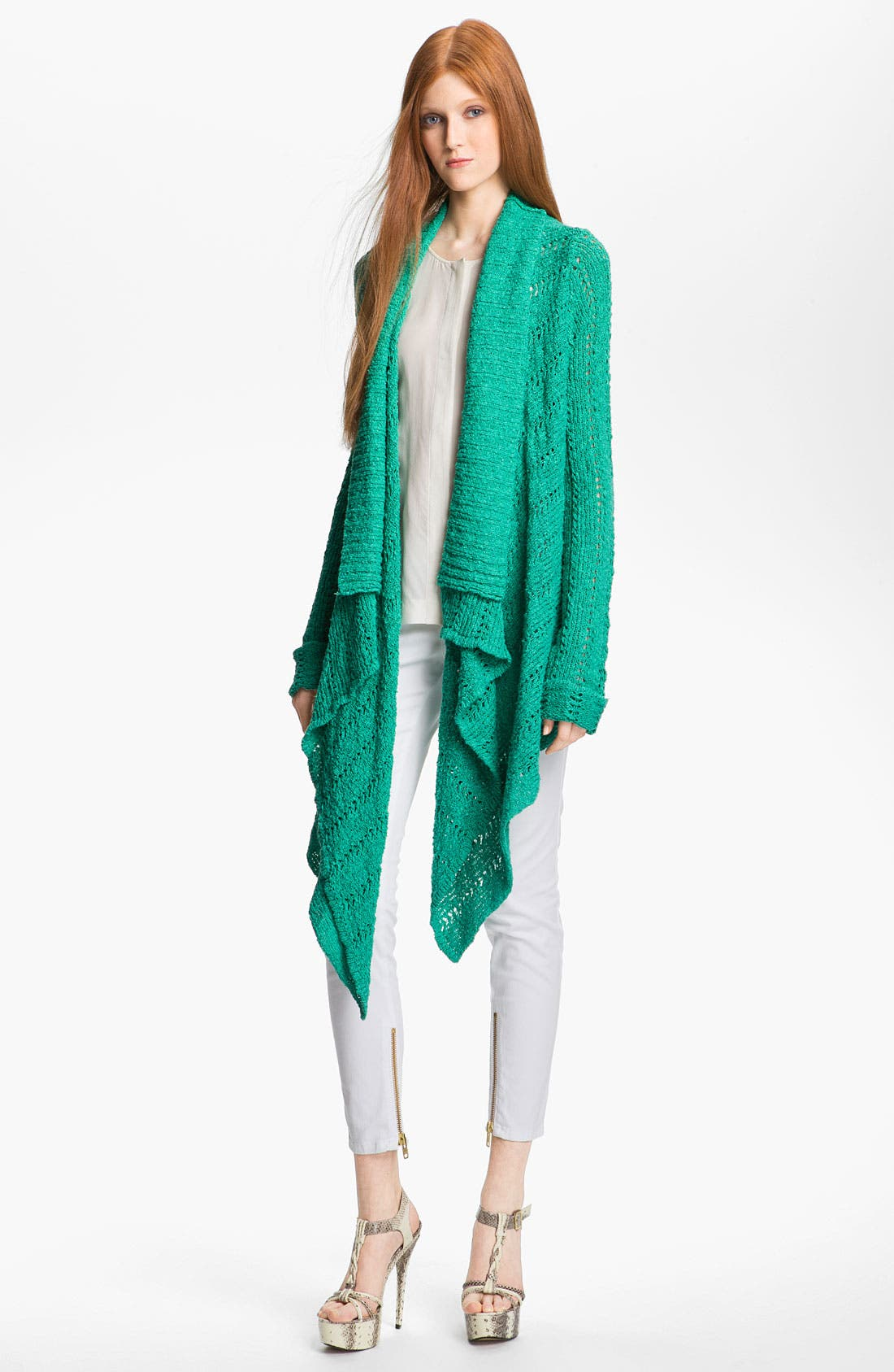 Alternate Image 1 Selected - Rachel Zoe Cardigan, Top & Skinny Jeans