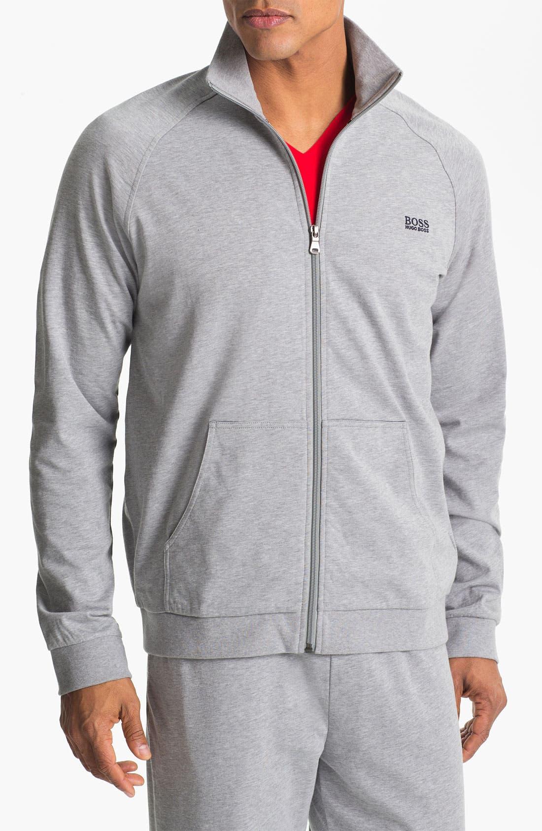 Alternate Image 1 Selected - BOSS HUGO BOSS 'Innovation' Full Zip Cotton Track Jacket