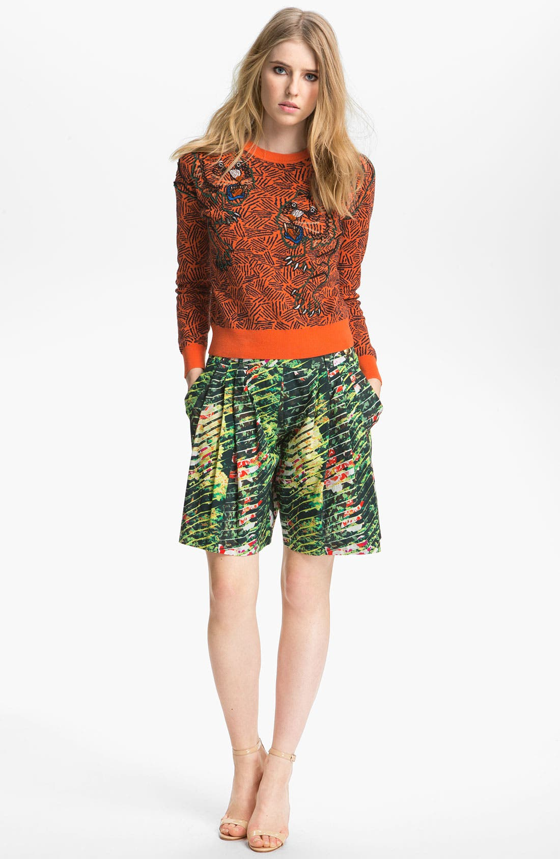 Alternate Image 2  - KENZO Bead Embroidered Tiger Sweater