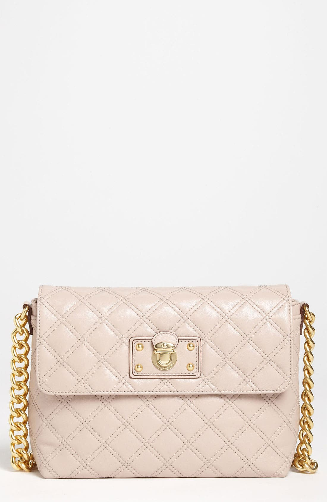 Main Image - MARC JACOBS 'Large Quilting Single' Leather Shoulder Bag