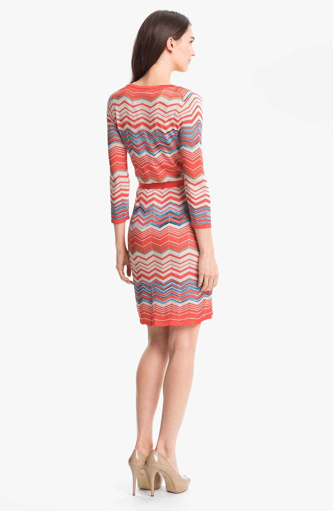 Alternate Image 2  - Trina Turk 'Harbor' Faux Wrap Sweater Dress
