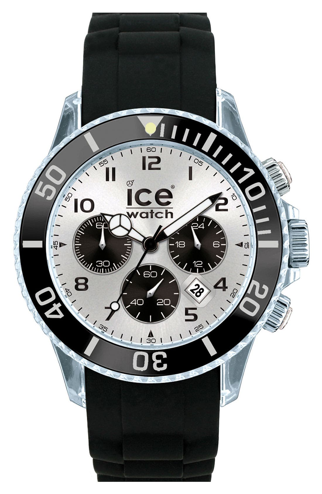 Alternate Image 1 Selected - ICE Watch Chronograph Silicone Strap Watch, 48mm