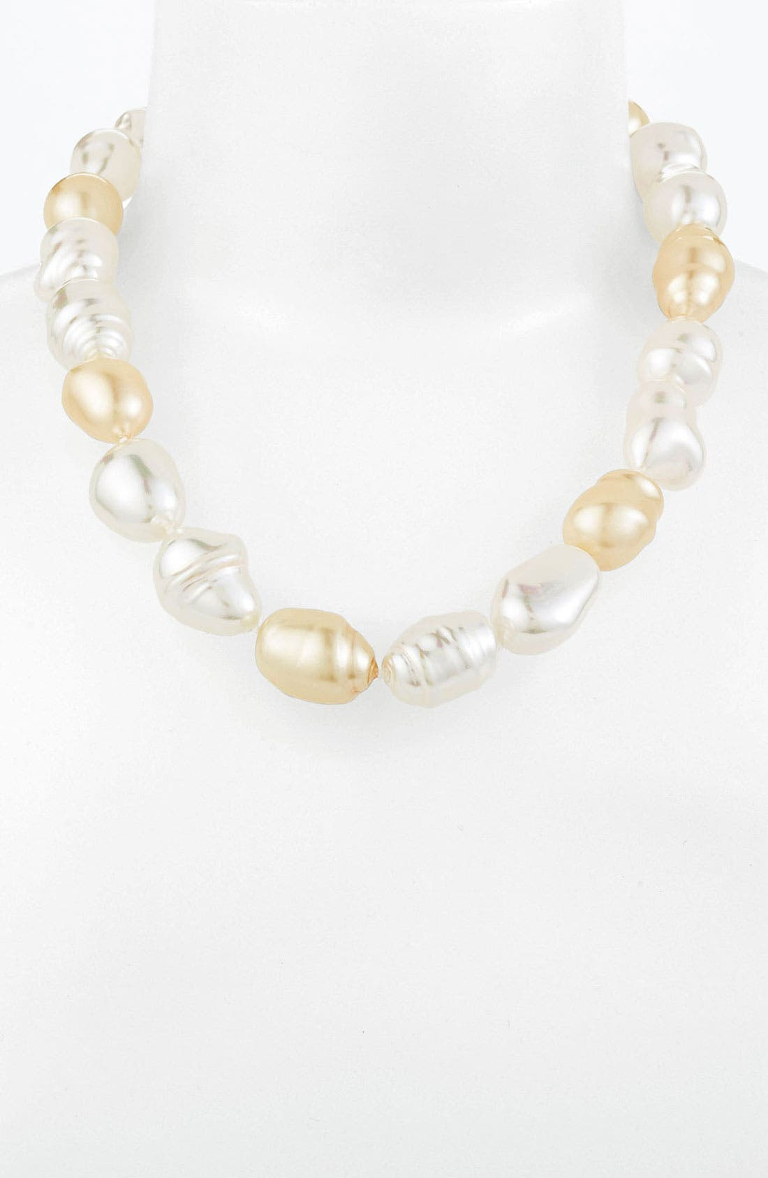 Main Image - Majorica Baroque Pearl Necklace