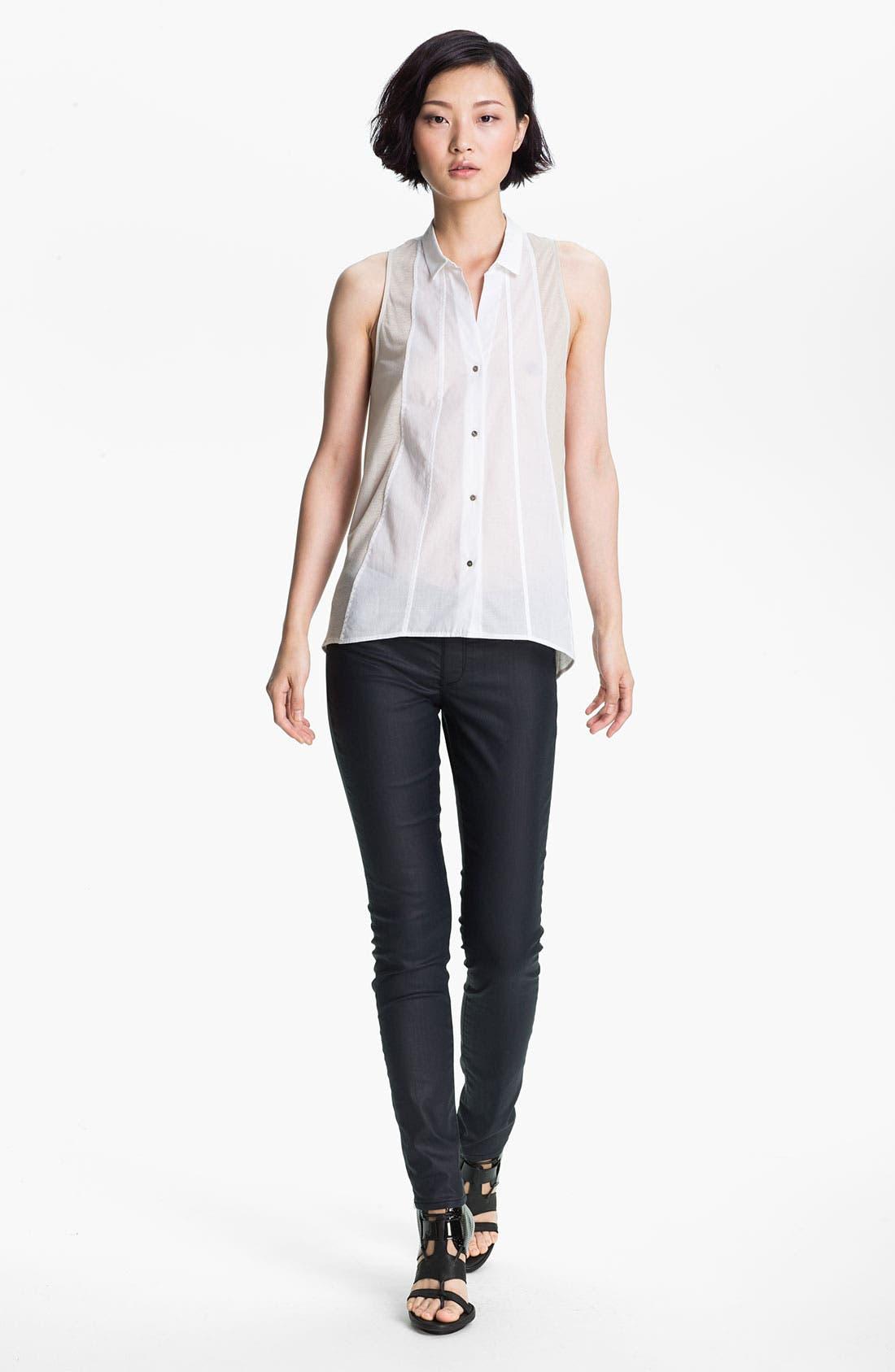 Alternate Image 1 Selected - HELMUT Helmut Lang Sleeveless Poplin Shirt