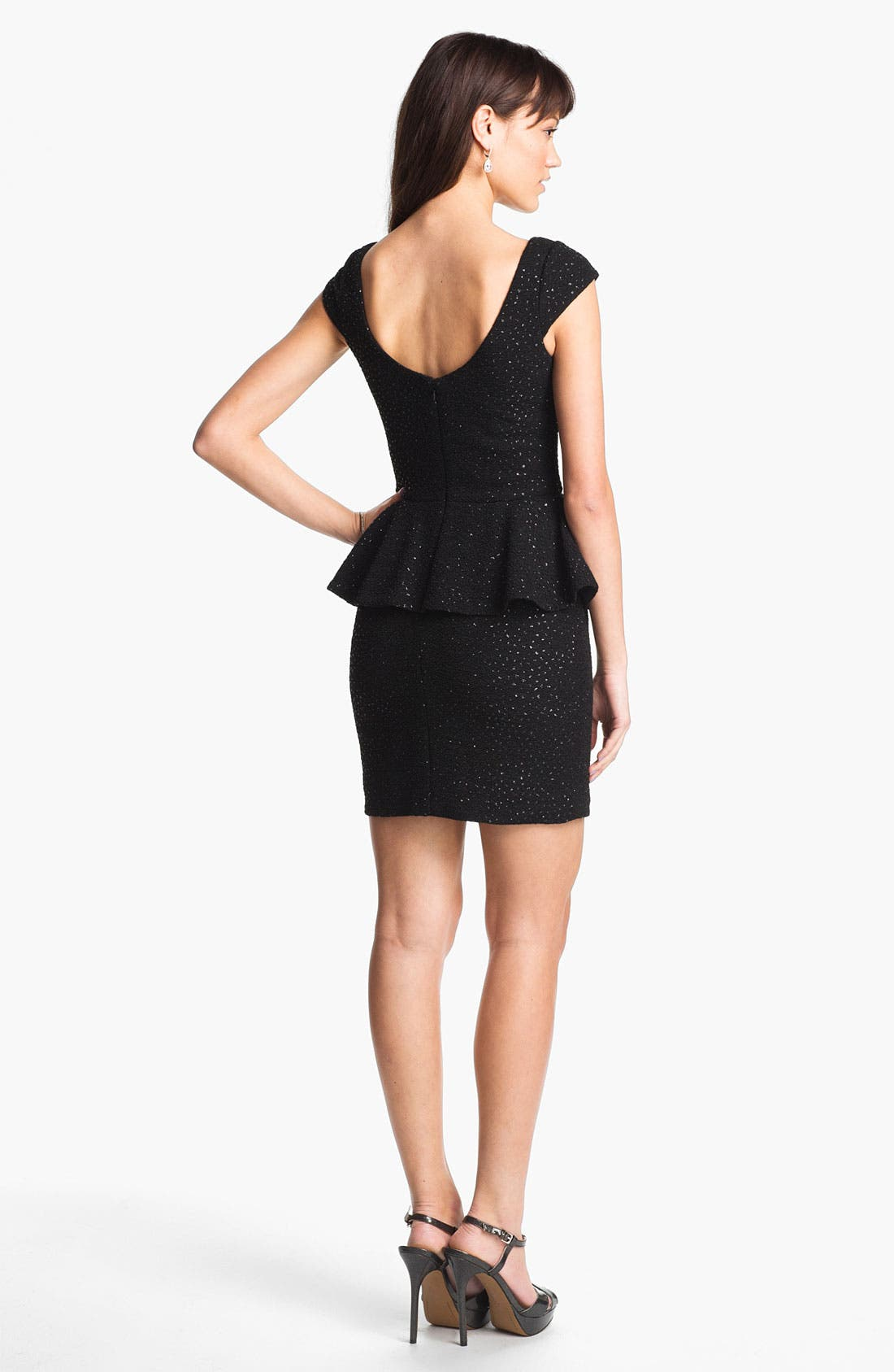 Alternate Image 2  - Hailey by Adrianna Papell Crinkled Jersey Peplum Dress (Online Exclusive)