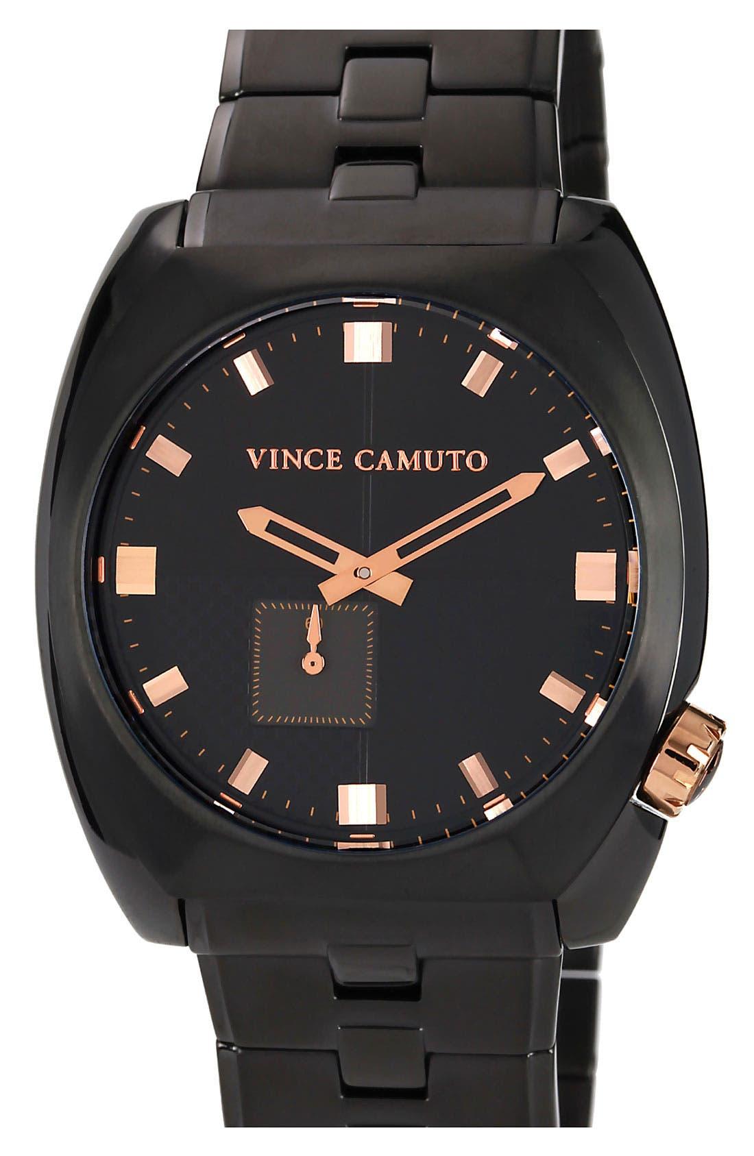 Alternate Image 1 Selected - Vince Camuto 'Cadet' Bracelet Watch, 43mm x 48mm
