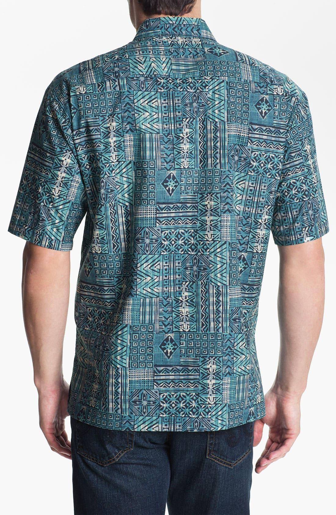 Alternate Image 2  - Tori Richard 'Gridlock' Cotton Campshirt (Big & Tall)