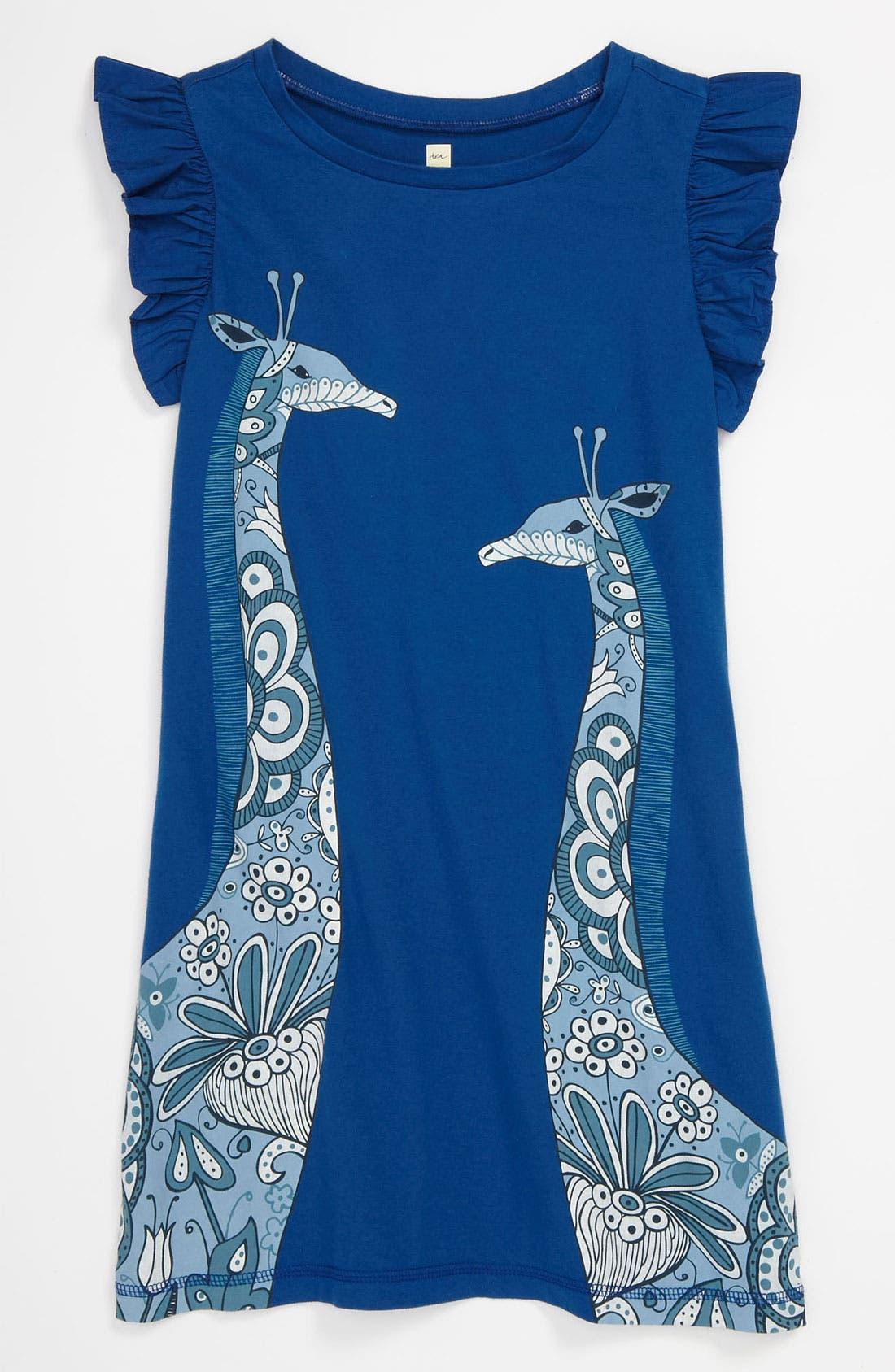 Alternate Image 1 Selected - Tea Collection 'Giraffe' Dress (Little Girls & Big Girls)
