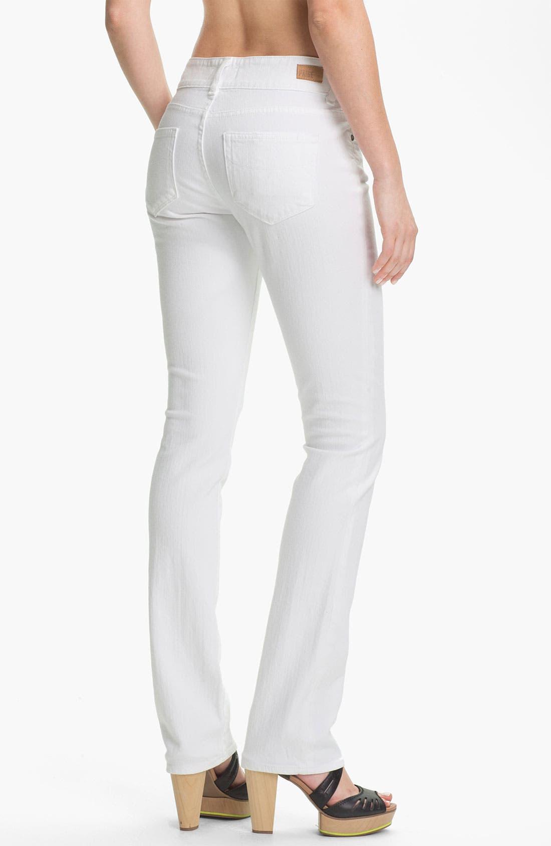 Alternate Image 2  - Paige Denim 'Hidden Hills' Straight Leg Stretch Jeans (Optic White)
