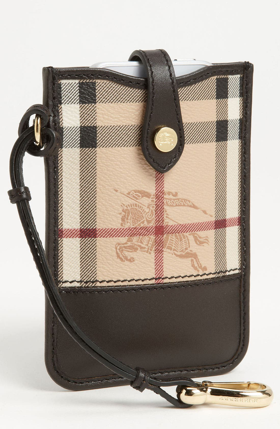 Alternate Image 1 Selected - Burberry 'Haymarket Check' iPhone Wallet