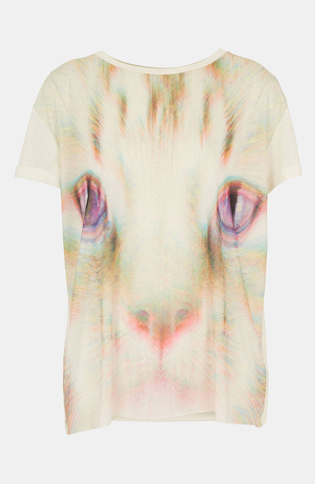 Alternate Image 1 Selected - Topshop 'Rave Cat' Tee (Petite)