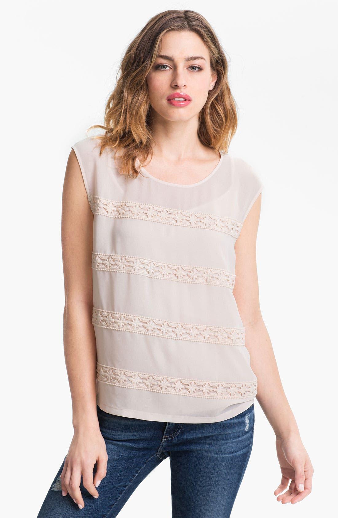 Alternate Image 1 Selected - Hinge Crochet Stripe Top